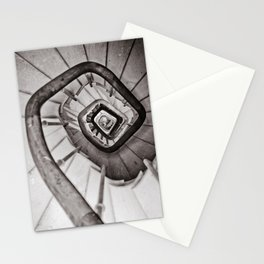 Wooden stairs Stationery Cards