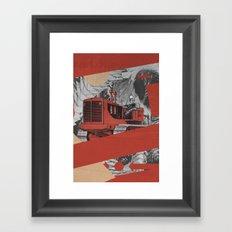 Red Valley Framed Art Print