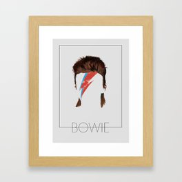 Iconic Hair - Bowie Framed Art Print