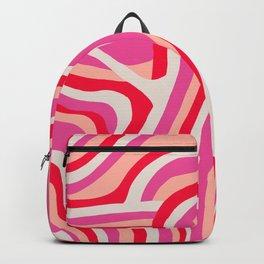 pink zebra stripes Backpack