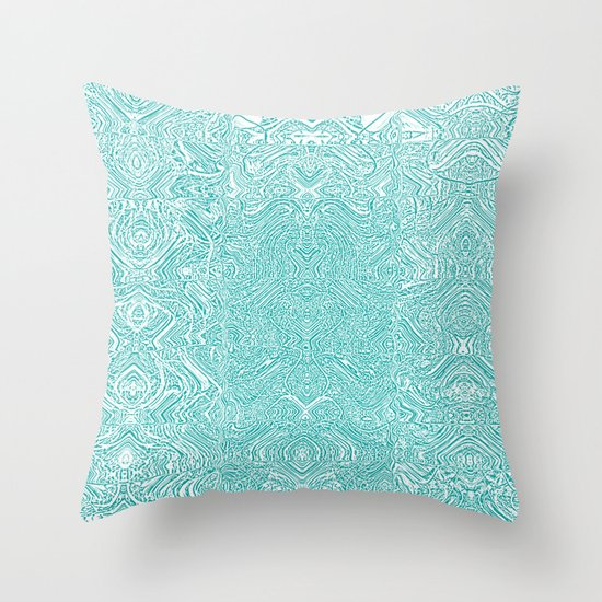 Throw Pillow Covers Society6 : Abstract Teal Throw Pillow by Serena Gailey Society6