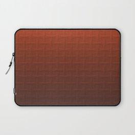Big Bold Rust and Brown Industrial Basket Weave Pattern Laptop Sleeve