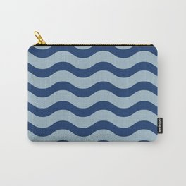 Waves of Lapis Carry-All Pouch