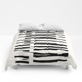 Organic No. 13 Black & Off-White #minimalism #decor #society6 Comforters