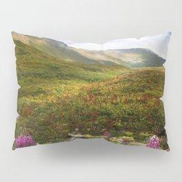 Fireweed Valley Alaska - Mountian Landscape Pillow Sham