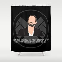 agents of shield Shower Curtains featuring Agents of S.H.I.E.L.D. - Hunter by MacGuffin Designs