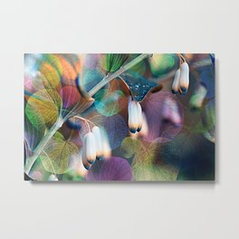 Floral abstract(48). Metal Print