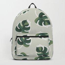 Monstera Cat pattern 1 Backpack