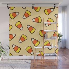Candy Corn Pattern Wall Mural