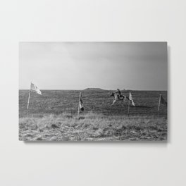 Horse and the rider Metal Print