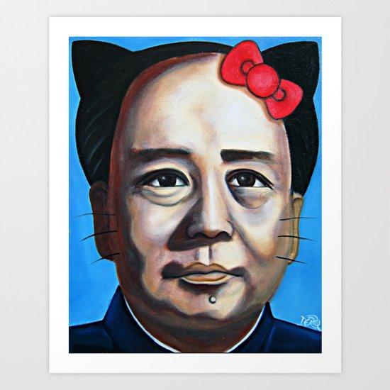 Mao Hello Kitty Art Print