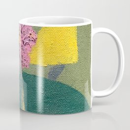 Pink flower with shapes Coffee Mug