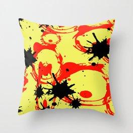 Splah graphic design in yellow Throw Pillow