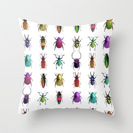 Beautiful Bugs Throw Pillow