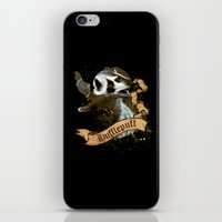 hufflepuff iPhone & iPod Skins featuring Hufflepuff by Markusian
