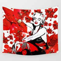 marilyn Wall Tapestries featuring Marilyn by Saundra Myles