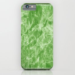 Mixed color Poinsettias 3 Outlined Green iPhone Case