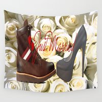 heels Wall Tapestries featuring love,kiss,love duvet cover,photo duvet cover,married,love  , love  games, love  blanket, bally,heels by ira gora