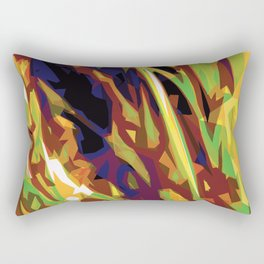 Green and Yellow Grasses Rectangular Pillow
