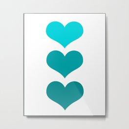 Hearts Trio Metal Print