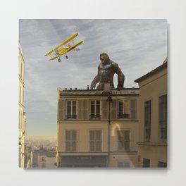 Kong in Paris Metal Print