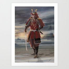 Sunset Samurai Art Print