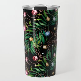 Glamorous Palm Black Travel Mug