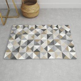 Stone Mid Century Modern Triangle Print Rug