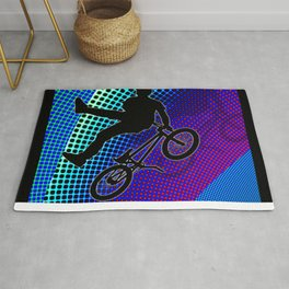 BMX in Fractal Movie Marquee Rug