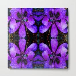 Purple flower geometry III Metal Print