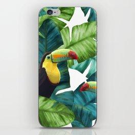 Toucans Tropical Banana Leaves Pattern iPhone Skin