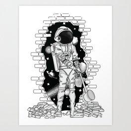 Astronaut on the loose Art Print