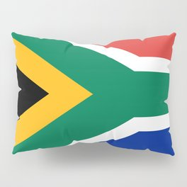 Flag of South Africa, Authentic color & scale Pillow Sham