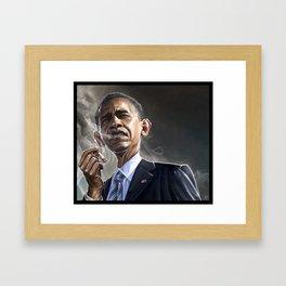 Obamaboro Man Framed Art Print