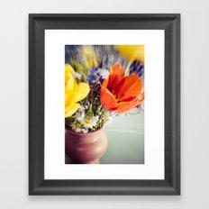Cut through the Garden IV Framed Art Print