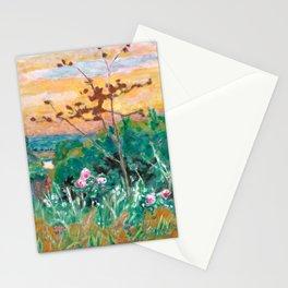 Pierre Bonnard - Jardin à Vernonnet - Garden at Vernonnet - Les Nabis Painting Stationery Cards
