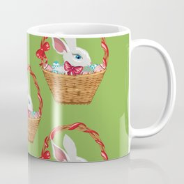 Bunny in basket Coffee Mug