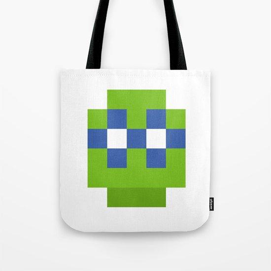 hero pixel green blue Tote Bag