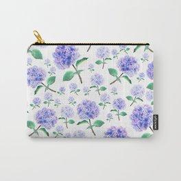 purple blue hydrangea pattern Carry-All Pouch