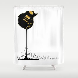 Flowing Music Shower Curtain