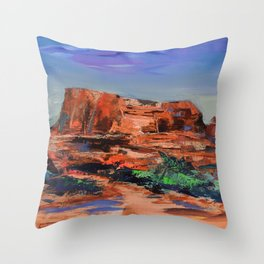 COURTHOUSE BUTTE ROCK Throw Pillow
