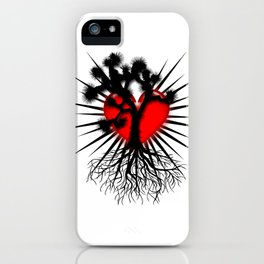 Joshua Tree Heart of the Hi Desert by CEYES iPhone Case