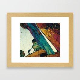 Epidote in Quartz Framed Art Print