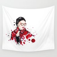 vogue Wall Tapestries featuring VOGUE by CARLOS CASANOVA