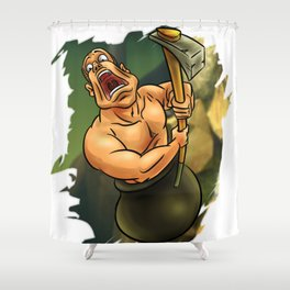 Getting Over Shower Curtain