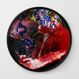 The Painter who´s looking for the right words to discribe his work - 3 Wall Clock