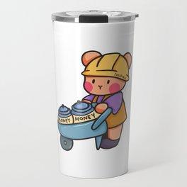 Bear Construction honey wheelbarrow children gift Travel Mug