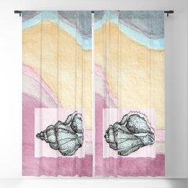 Seashell by the Seashore Blackout Curtain