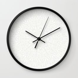 Cream on White Mandala Circle of Life Wall Clock
