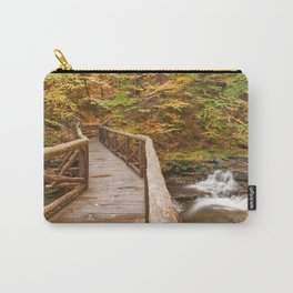 Autumn Boardwalk Bridge Carry-All Pouch